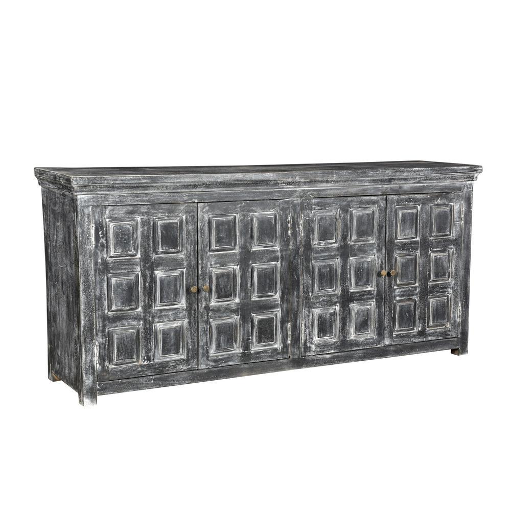 Dalton 4-Door Grey Wash Sideboard