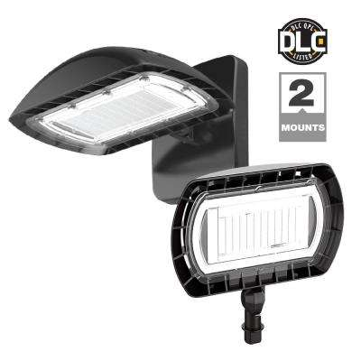 55 outdoor security lighting outdoor lighting the home depot dark bronze outdoor integrated led high output flood light with wall pack mount kit aloadofball Choice Image