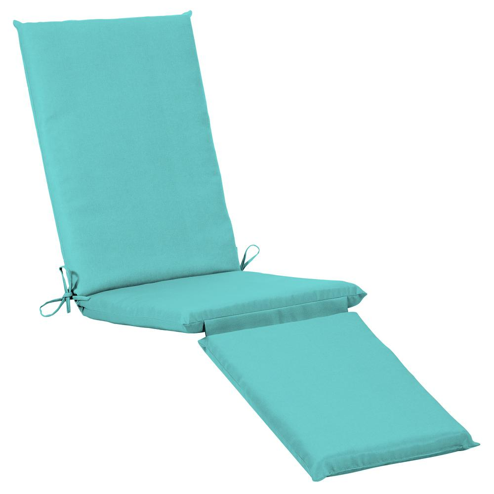 Home Decorators Collection 19 x 74 Sunbrella Canvas Aruba Outdoor Chaise Lounge Cushion