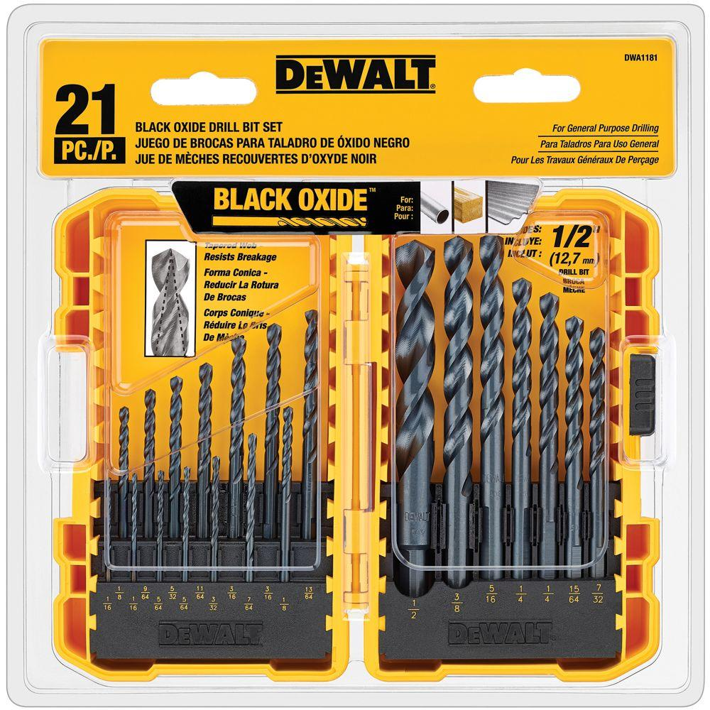 Black Oxide Drill Bit Set (21-Piece)