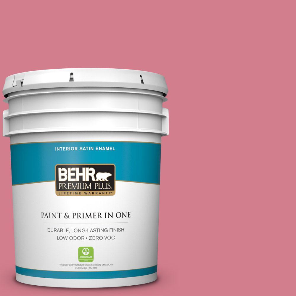 BEHR Premium Plus 5-gal. #P140-4 I Pink I Can Satin Enamel Interior Paint
