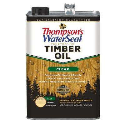 1 gal. Clear Penetrating Timber Oil Exterior (4-Pack)