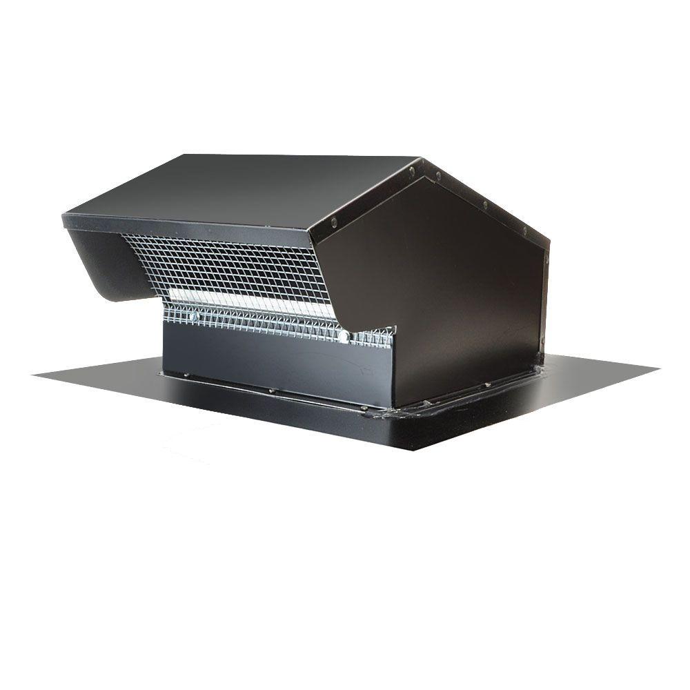 10 in. Goose Neck Vent - Roof Cap in Black