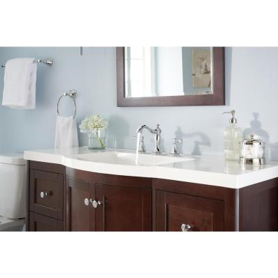 Cassidy 8 in. Widespread 2-Handle Bathroom Faucet with Metal Drain Assembly in Chrome
