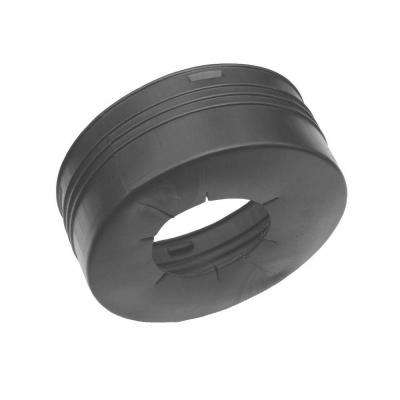 8 in. x 4 in. Polyethylene Slip Gravelless Offset Adapter No Grommet