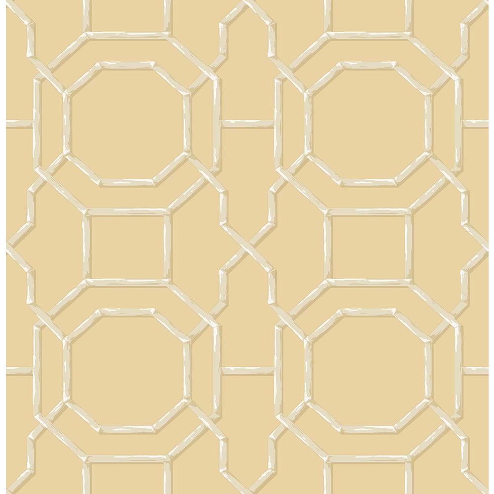 Yellow Trellis Wallpaper: York Wallcoverings Peek-A-Boo Trellis Wallpaper-YS9103