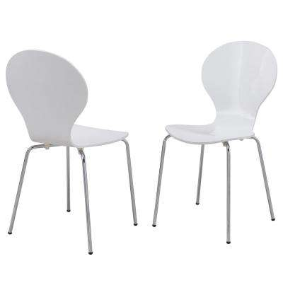 Bryson White Bentwood Dining Chair (Set of 2)
