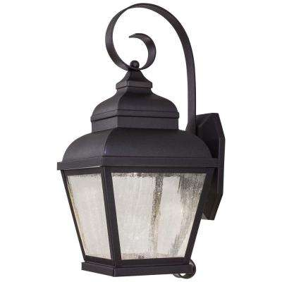 Mossoro 1-Light Black Integrated LED Outdoor Wall Lantern Sconce