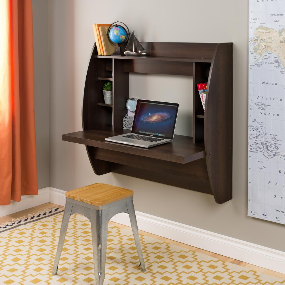 Prepac Brown Desk with Shelves