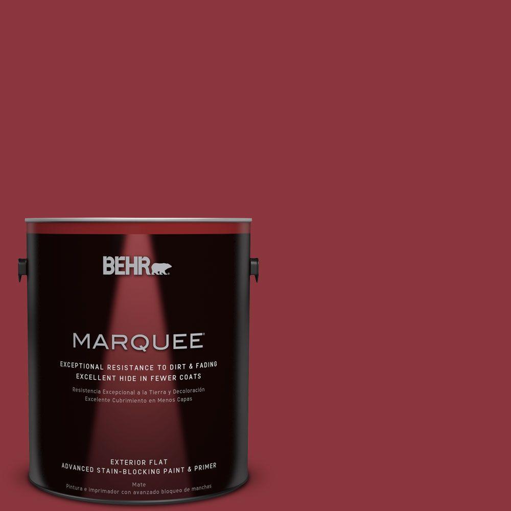 1-gal. #S-G-140 Cherry Cobbler Flat Exterior Paint