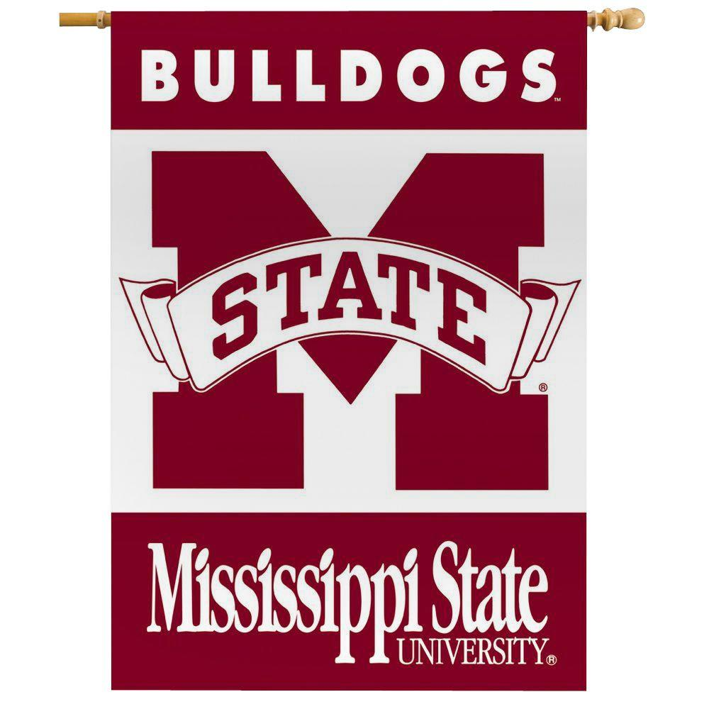 BSI Products NCAA 28 in. x 40 in. Mississippi State 2-Sided Banner with Pole Sleeve