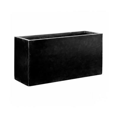 29.5 in. x 23.5 in. x 59 in. Black Fiberstone Planter