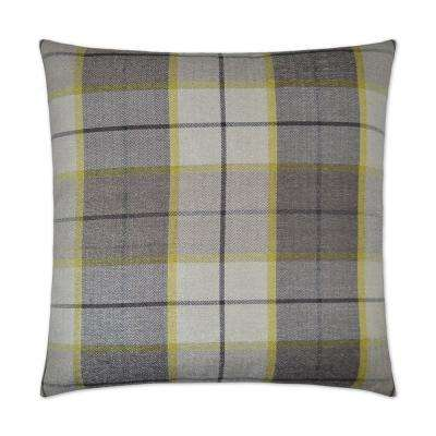 Penn Plaid Citrus Feather Down 24 in. x 24 in. Decorative Throw Pillow