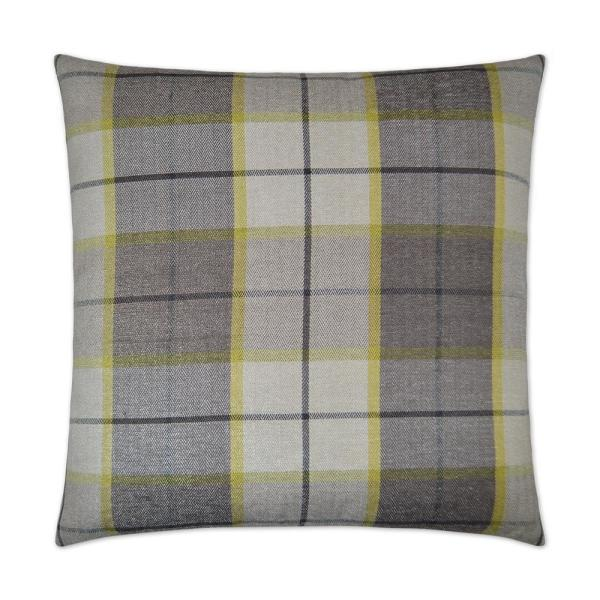Penn Plaid Citrus Feather Down 24 in. x 24 in. Decorative