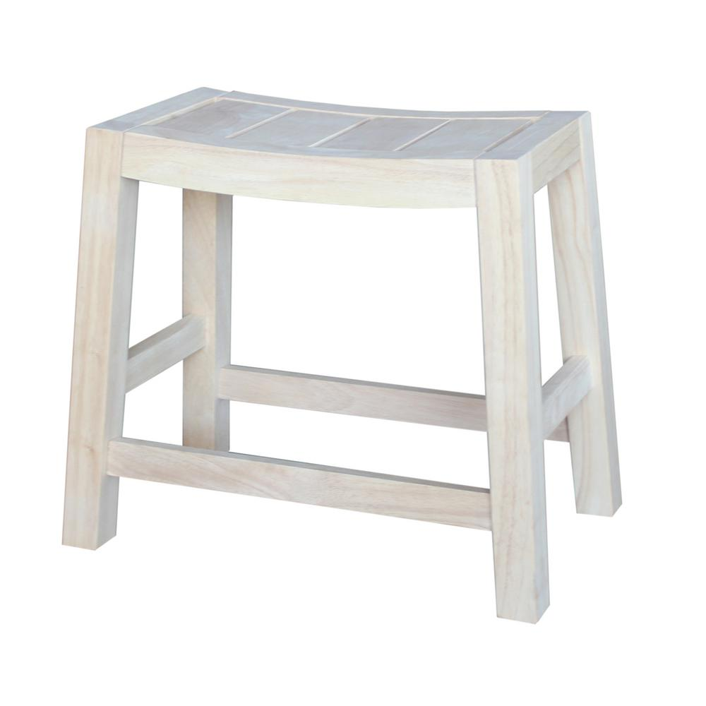 International Concepts 18 In Unfinished Wood Bar Stool 1s