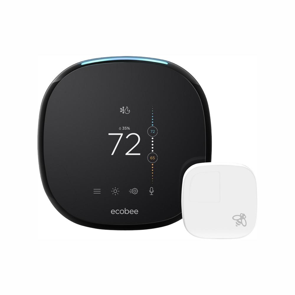ecobee 4 Smart Thermostat with Room Sensor and Built-in Amazon Alexa