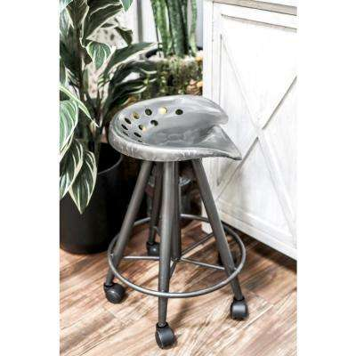Black Adjustable Bar Stool With Wheels
