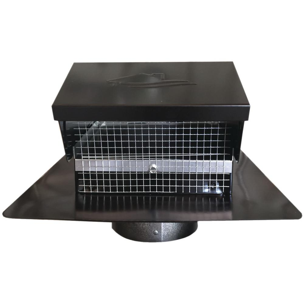 4 In Goose Neck Vent Roof Cap In Black Gnv4bl The Home