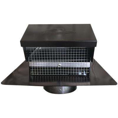 Black Metal Roof Vent Cap 4in. Collar