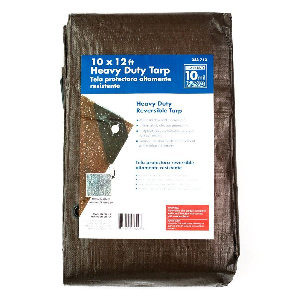 null 10 ft. x 12 ft. Heavy-Duty Tarp