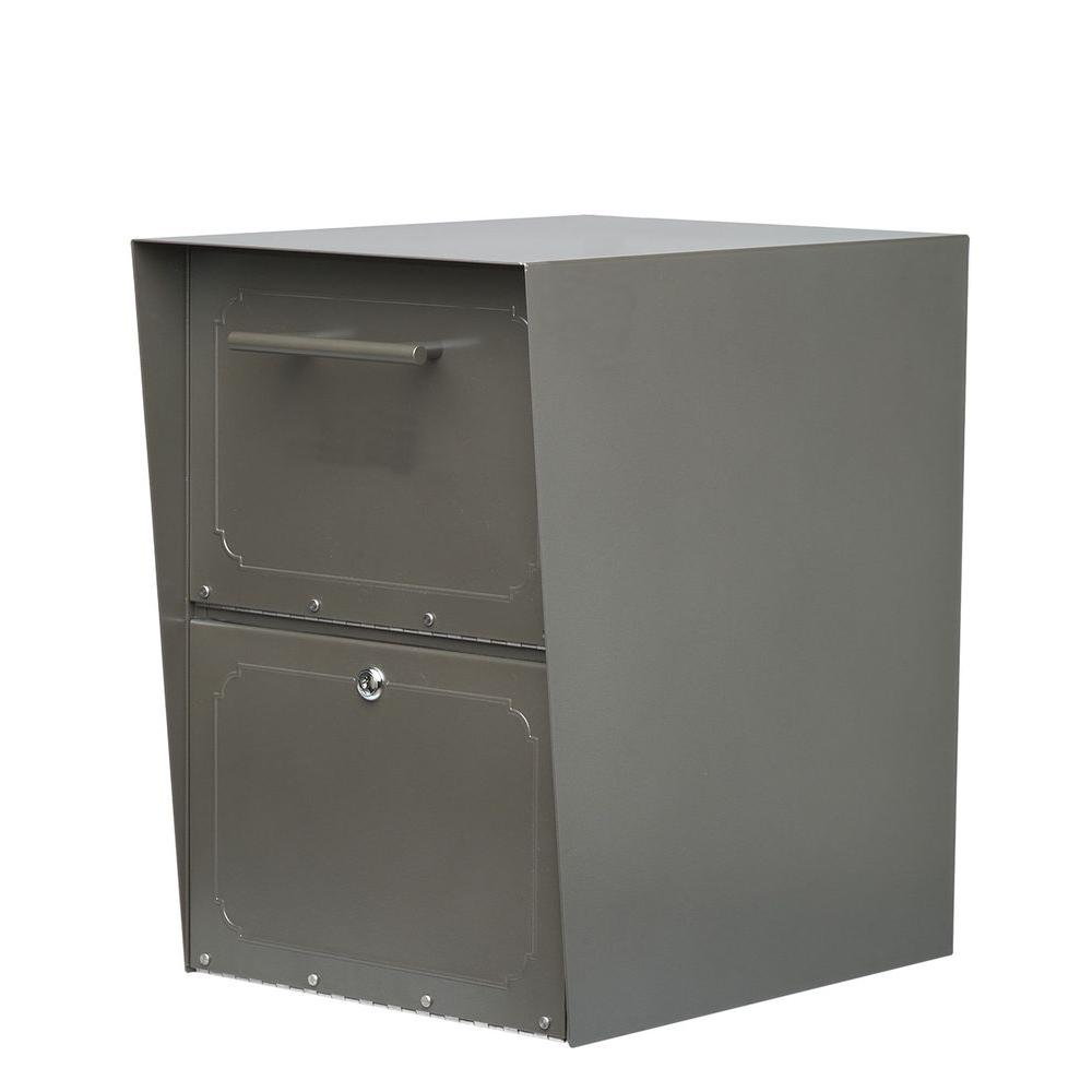 Architectural Mailboxes Oasis Bronze Post-Mount or Column-Mount Locking Drop Box