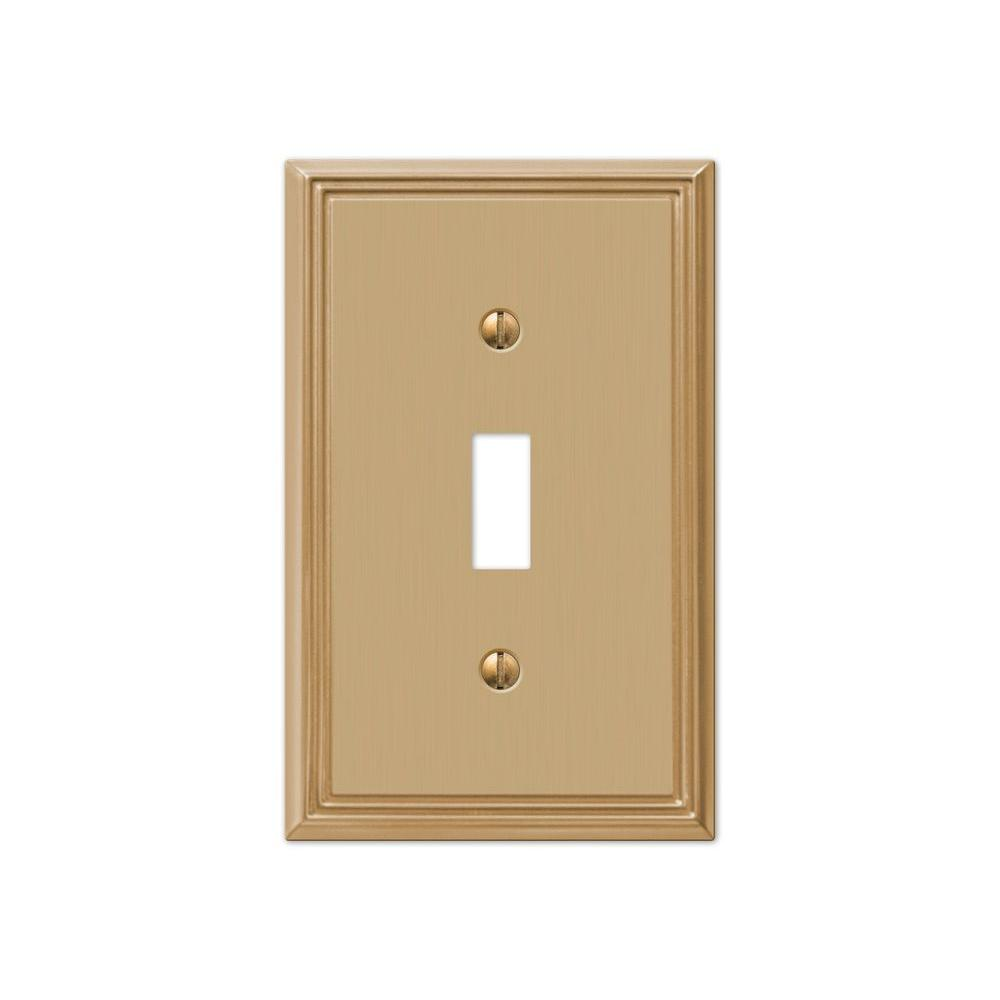 Hampton Bay Rhodes 1 Toggle Wall Plate - Brushed Bronze Cast-77TBZHB ...
