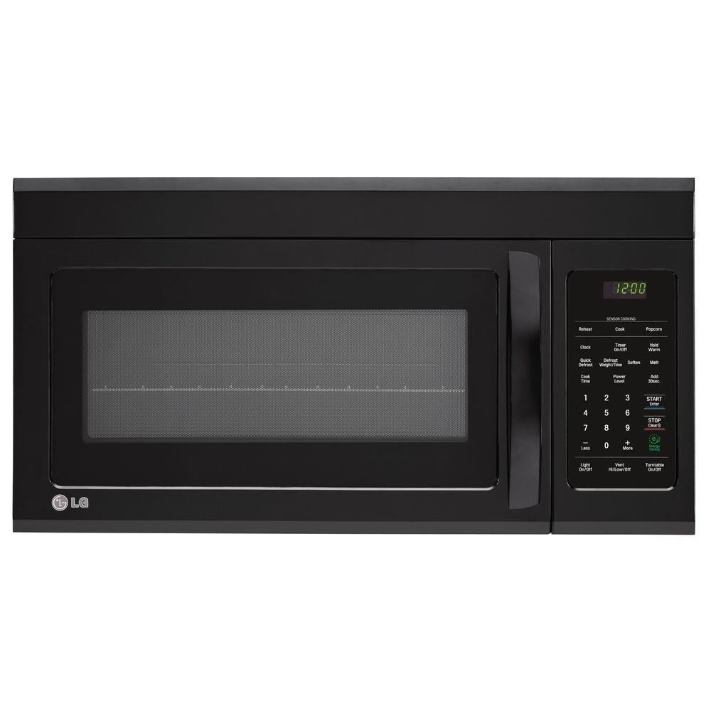 LG Electronics 1.8 cu. ft. Over the Range Microwave in Smooth Black