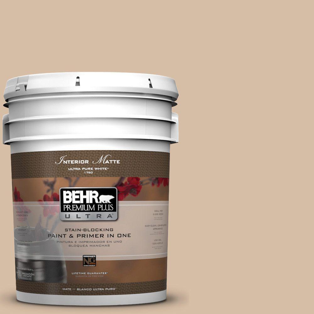 5 gal. #HDC-SM14-3 Concept Beige Matte Interior Paint