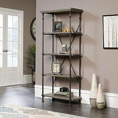 Canal Street Northern Oak Open Bookcase