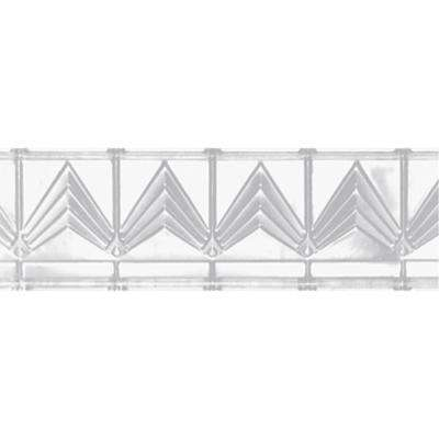6 in. x 4 ft. x 6 in. Powder-Coated White Nail-up/Direct Application Tin Ceiling Cornice (6-Pack)