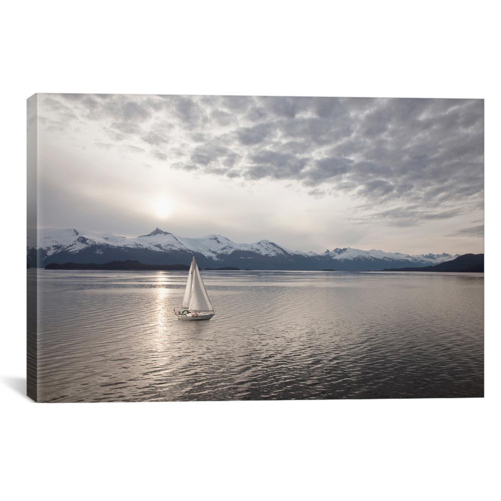 """""""Sailing at Sunset, Alaska"""" by Monte Nagler Canvas Wall Art"""