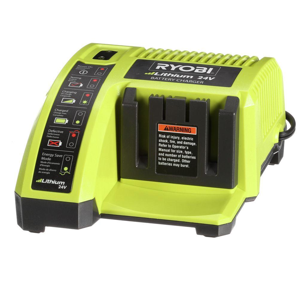 ryobi 24 volt lithium ion charger op140a the home depot. Black Bedroom Furniture Sets. Home Design Ideas