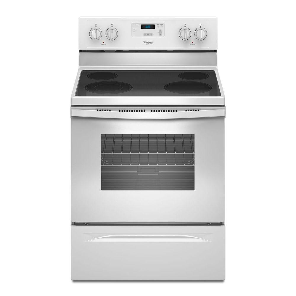 whirlpool electric range whirlpool 30 in 4 8 cu ft electric range in white 10064