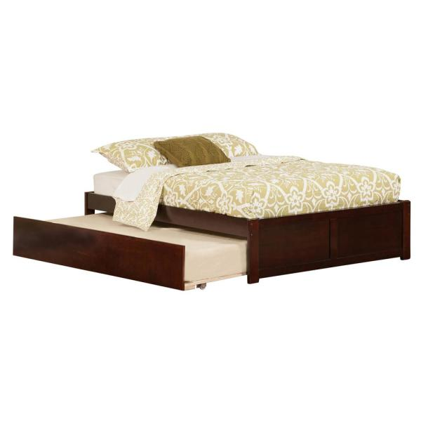 Atlantic Furniture Concord Full Platform Bed with Flat Panel Foot Board