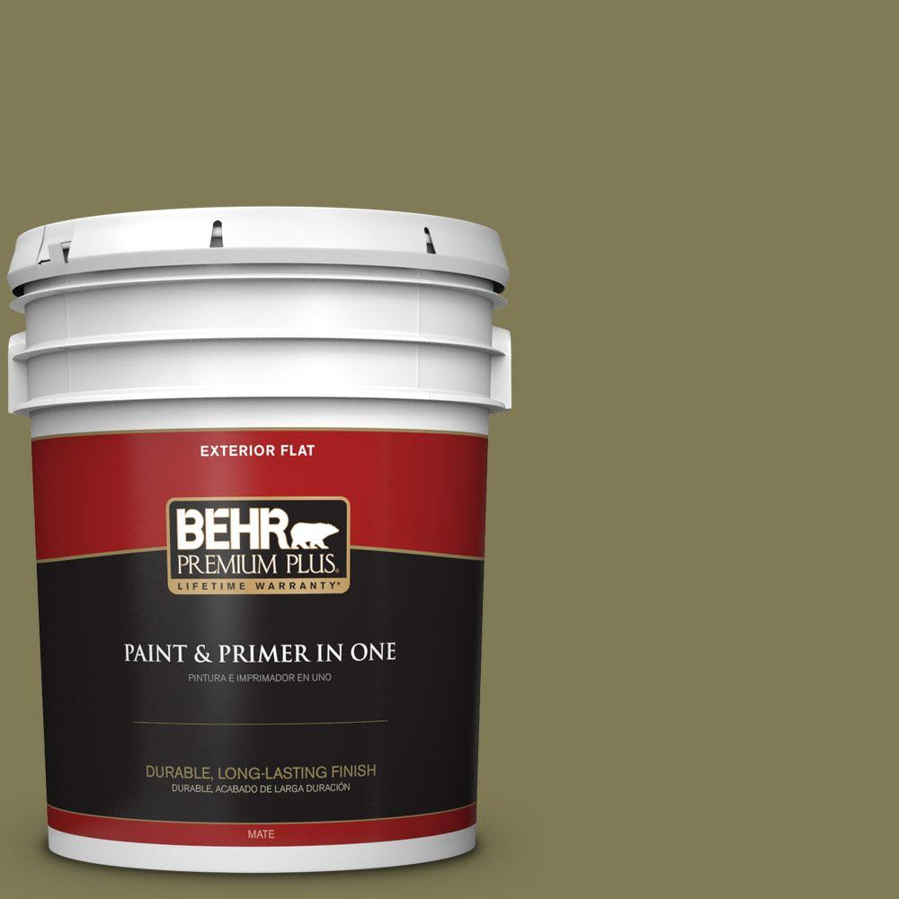 BEHR Premium Plus 5-gal. #HDC-AC-17 Meadowland Flat Exterior Paint