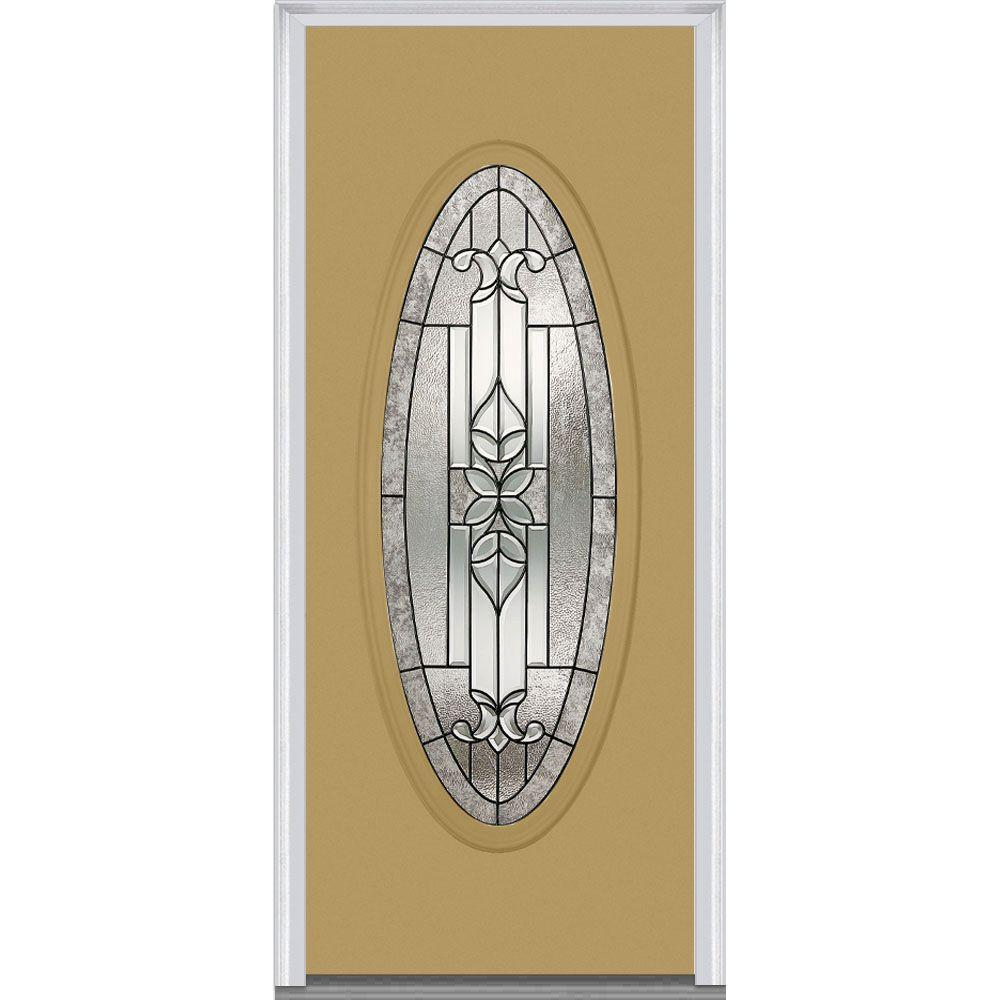 36 in. x 80 in. Cadence Right-Hand Large Oval Classic Painted