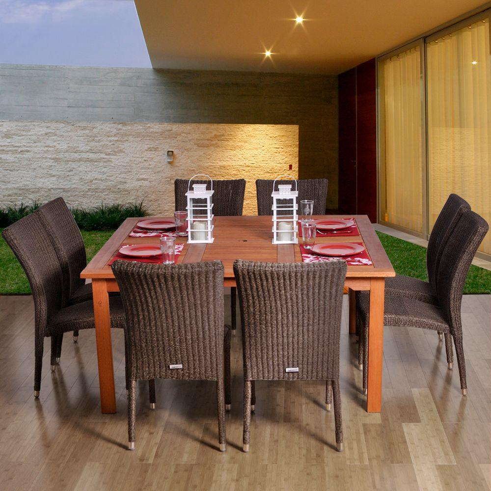 Amazonia Provence 9-Piece Patio Dining Set