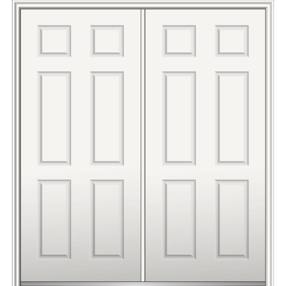 Mmi Door 60 In X 80 In Right Hand Inswing Classic 6 Panel Primed