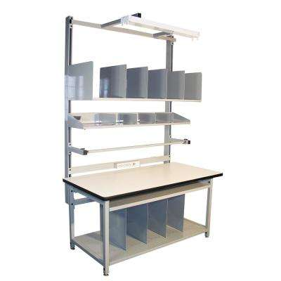 72 in. x 30 in.  Gray Complete Packaging Bench with ESD Laminate Surface with Accessories