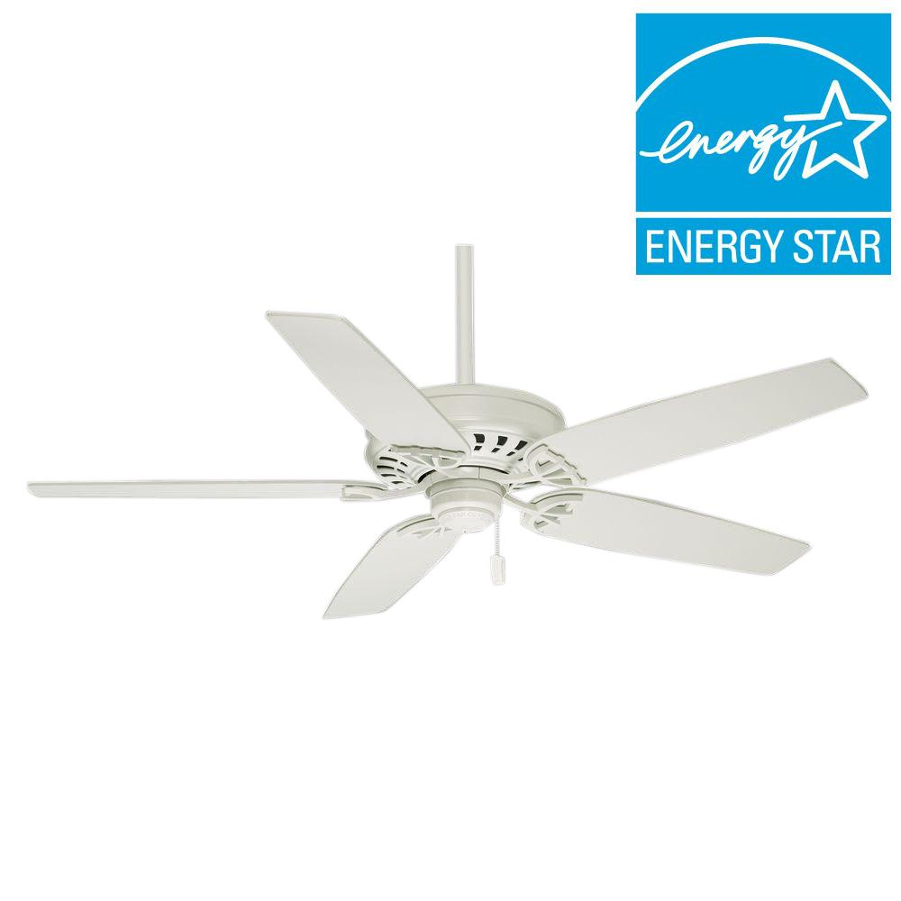 Casablanca Concentra 54 In Indoor Snow White Ceiling Fan 54019 The Home Depot