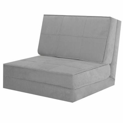 30 in. Gray Cotton Full Sleeper Convertible Fold-Down Sofa Chair