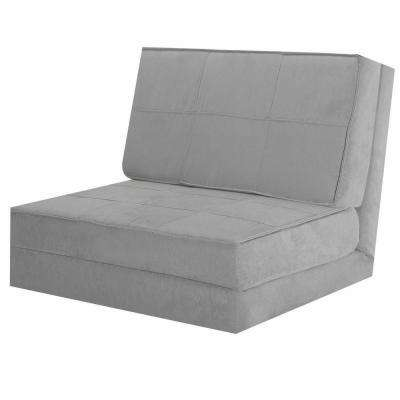 Convertible Fold Down Sofa Chair Flip Out Lounger Sleeper Bed Couch Game Dorm Guest Gray