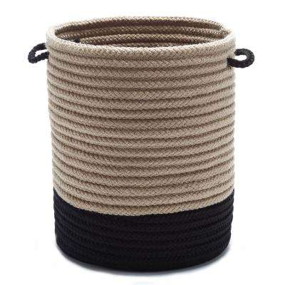 Harbor Black Round Polypropylene Basket