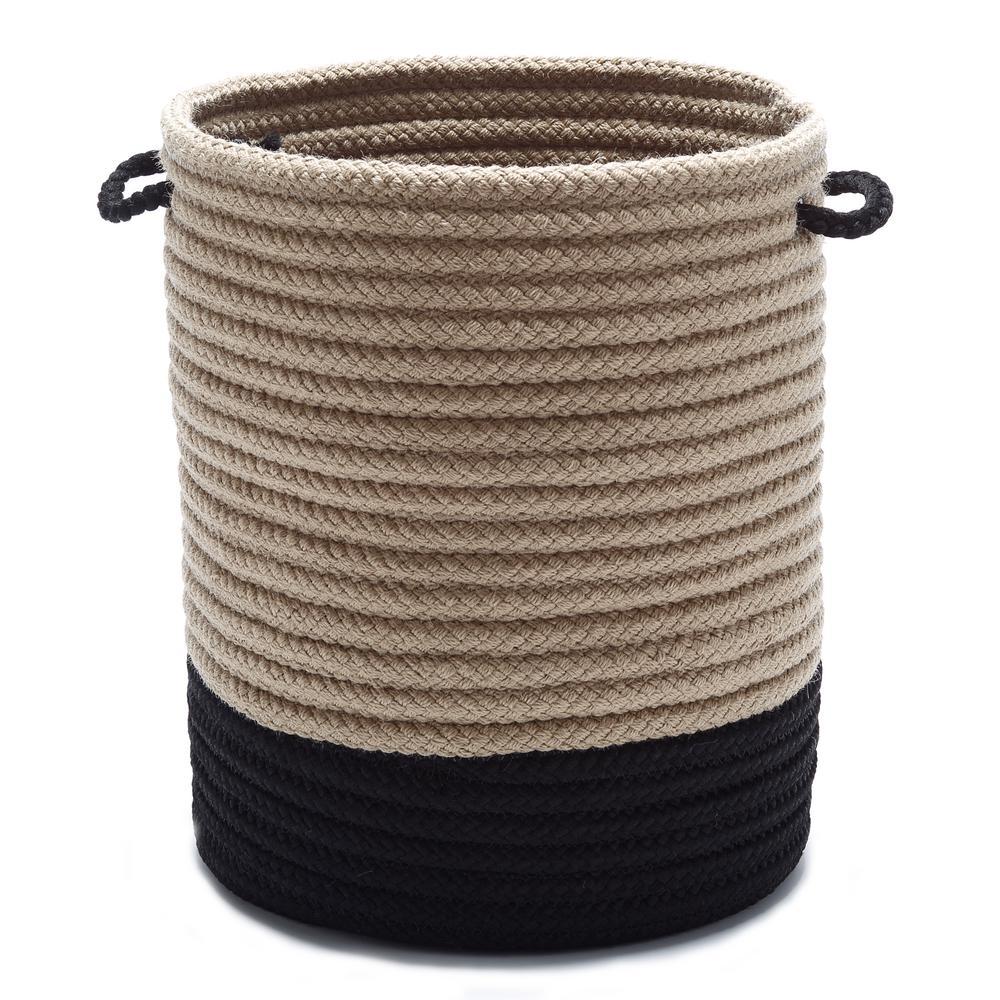 Colonial Mills Harbor Black Round Polypropylene Basket HA01A012X012
