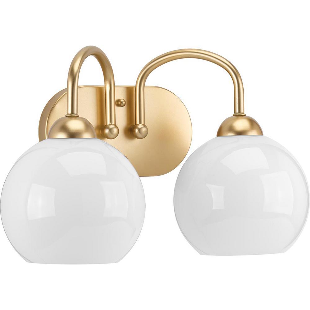 Carisa Collection 2-Light Vintage Gold Bath Light