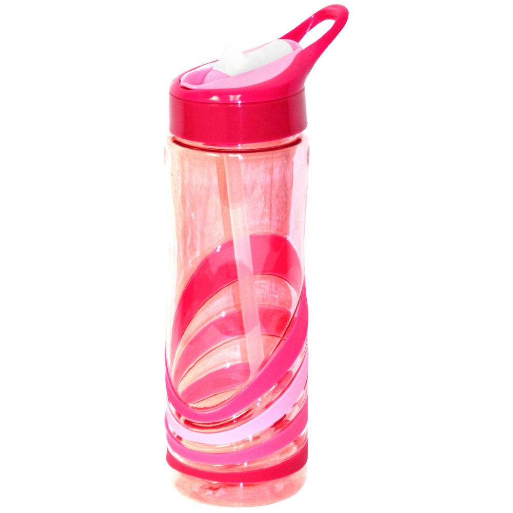 24 oz. Red Plastic Tritan Hydration Bottle (6-Pack)