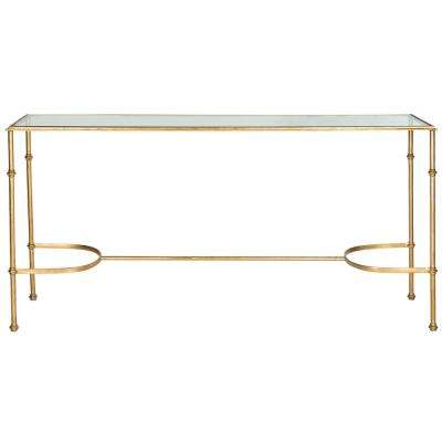 Lucille Glass Top Gold Iron Console