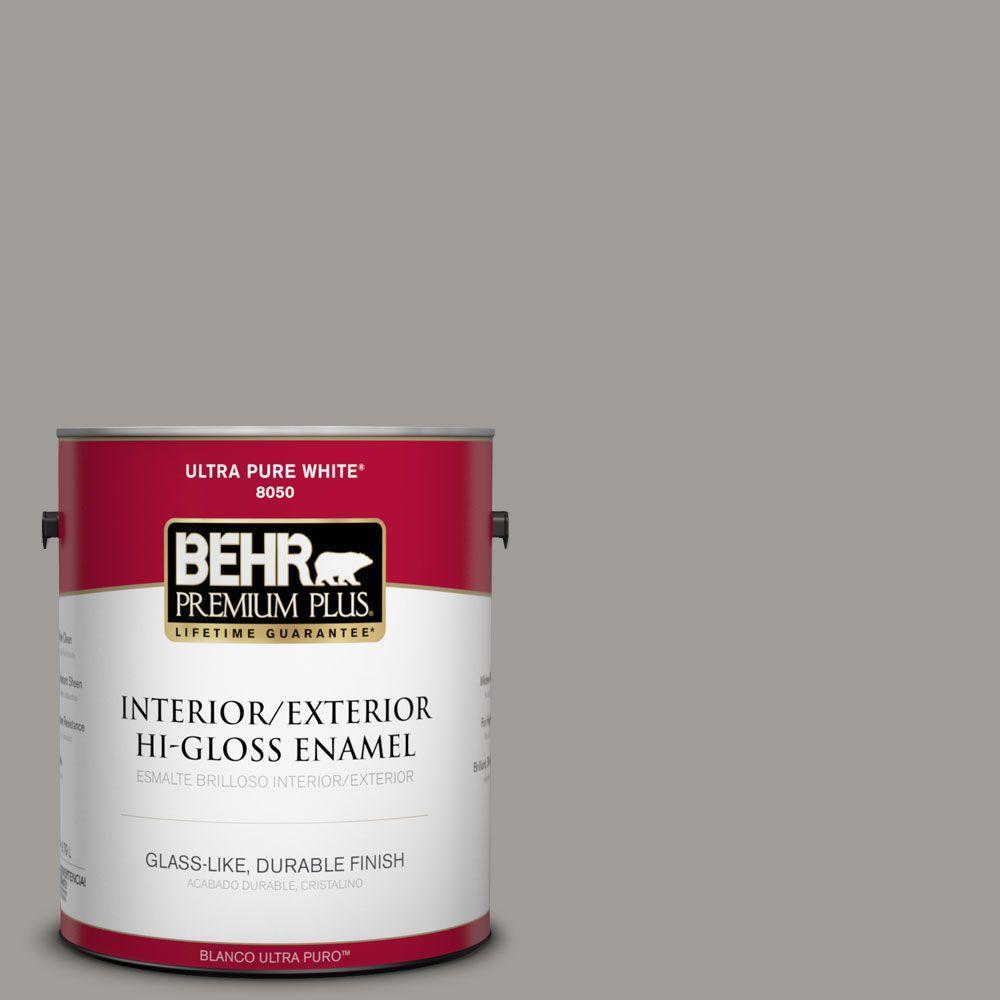 1-gal. #BNC-17 Casual Gray Hi-Gloss Enamel Interior/Exterior Paint