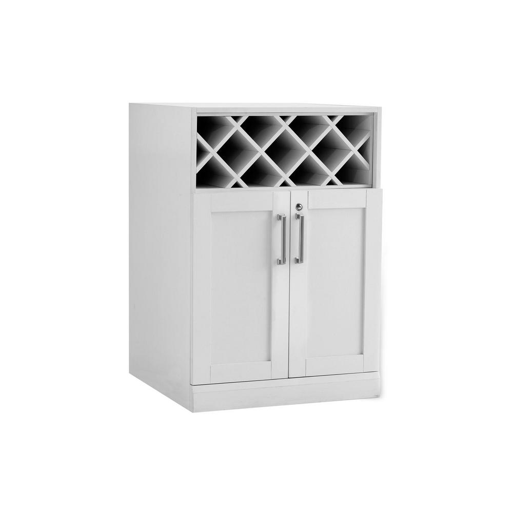 NewAge Products Home Bar White 24 in. Wine Storage Cabinet-60005 ...