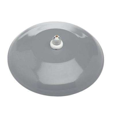 Farmers 1-Light Gray Outdoor Wall Mount Sconce with 12 in. Reflector